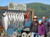 Our fishing lodge customers with their catch of the day